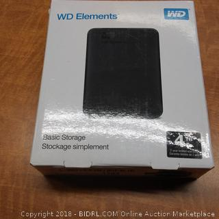 WD Element Basic Storage  Powers On See Pictures