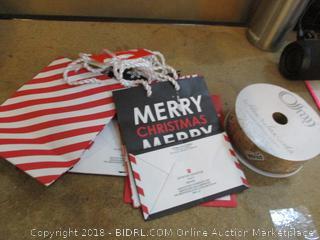 Christmas Bags and Ribbon