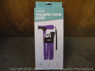 Vive Folding Cane Purple Adjustable Cane