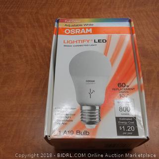 Osram Adjustable White Lightify LED Bulb 60w