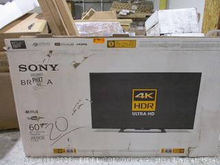 "Sony 4K HDR Ultra HD 60"" Powers On See Pictures"