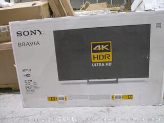 "Sony 4K HDR Ultra HD 55"" Powers On See Pictures / Cracked Screen"