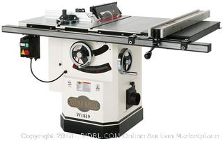 Shop Fox W1819 3 HP 10-Inch Table Saw with Riving Knife (Retail $1,899.00)