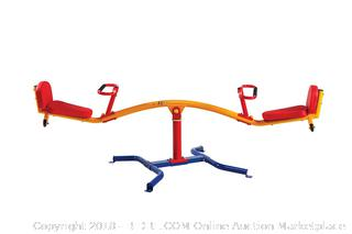 Gym Dandy Spinning Teeter Totter - Impact Absorbing Kids Playground Equipment - 360 Degree Rotation (Retail $179.00)
