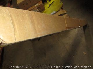 Qualarc Lewiston Cast Aluminum Post Mount Mailbox System, White (Retail $362.00) - Incomplete