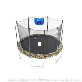 Skywalker Trampolines 12-Feet Jump N' Dunk Trampoline with Safety Enclosure and Basketball Hoop (Retail $254.00)