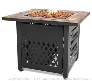 Endless Summer, GAD1429SP, Gas Outdoor Fireplace with Slate Mantel (Retail $160.00)