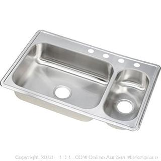 "Elkay DSEMR23322R3 Dayton Kitchen Sink, 33"" x 22"" (Retail $312.00)"