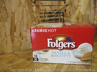 Keurig K-Cup Folgers Vanilla Biscotti