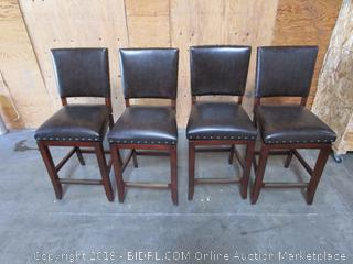 Leather Tall Chairs (swivels, please preview)
