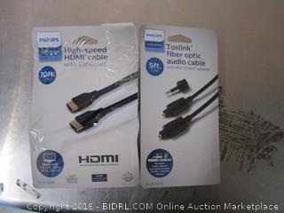 HDMI Cord/ Fiber Optic Audio Cable