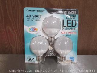 G25 Globe LED 40W Soft White