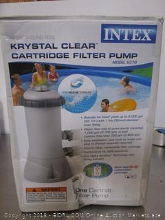 Intex Krystal Clear Cartridge Pool Filter Pump