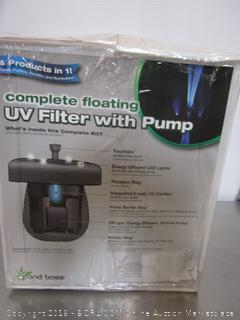 Pond Boss Floating UV Filter With Pump