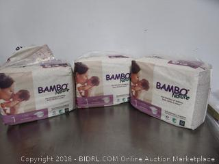 Bamboo Nature Diapers Size 1