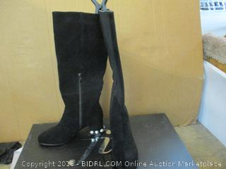 the fix Boots Black Suede Boots SIze  8 B (M)