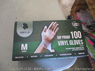 Gorilla Rip Proof Vinyl Gloves Size M