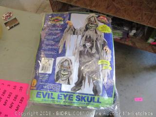 Evil Eye Skull Child Costume Size L