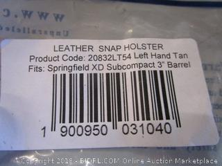 Leather Snap Holster