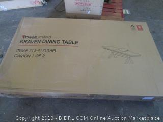 kraven dining table - missing parts