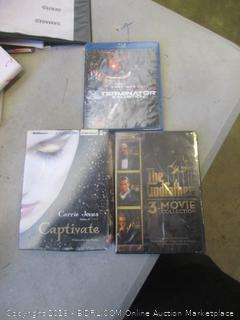 captivate, the godfather, and terminator movies