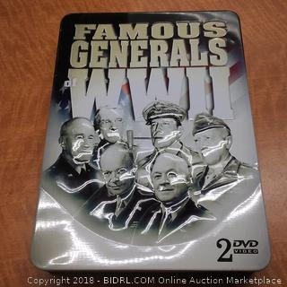 Famous Generals WWII 2 DVD Video