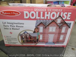 Melissa & Doug Wooden Vitorian Doll House (Broken Item Please Preview)