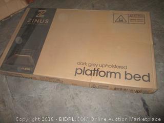 zinus queen size platform bed