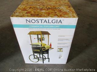 commercial popcorn cart