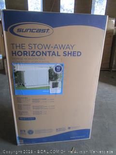 stow-away horizontal shed
