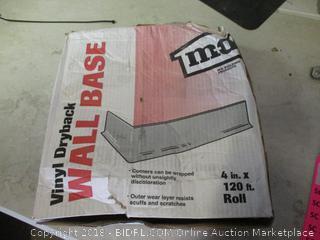vinyl dryback wall base