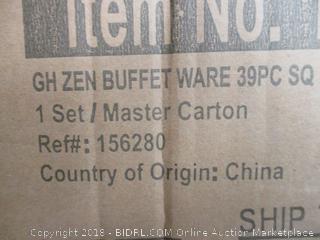 Zen Buffetware 39 PC Set