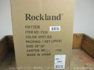 Rockland Grey 1 Set - 2 Pieces