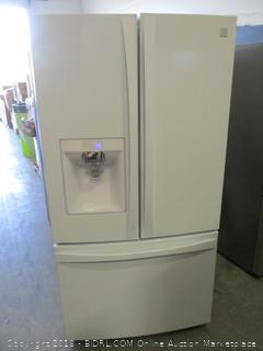 Kenmore Elite Refrigerator Powers On, Scratched, Dented See Pictures .