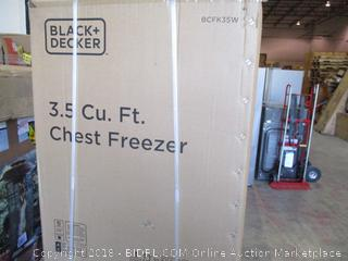 Black + Decker 3.5 Cu.Ft. Chest Freezer  See Pictures