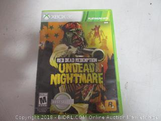 XBOX ONE Red Dead Redemption Undead Nightmare Game