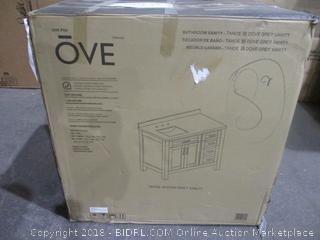 OVE Bathroom Vanity Sealed Opened For Picturing