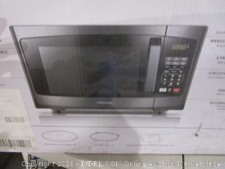 Toshiba Microwave Oven Countertop Power on, Sealed Opened for Picturing
