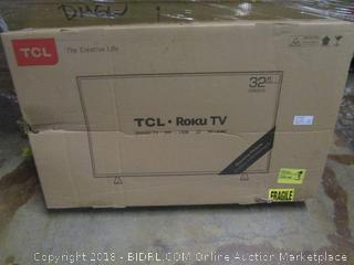 """TCL Roku TV 32""""   Damaged, Cracked Screen See Pictures"""