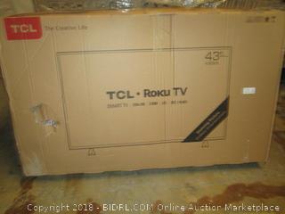"""TCL Roku TV 43""""  Damaged, Cracked Screen"""