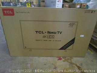 """TCL Roku TV 49"""" Powers on  See Pictures"""