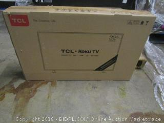 """TCL Roku TV 32""""   Damaged, Cracked Screen No Power See Pictures"""