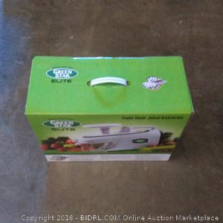 Green Star Jumbo Twin Gear  Elite Juice Extractor
