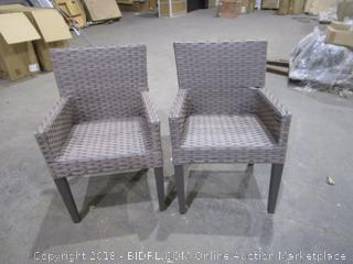 2 Outdoor Chair No Cushions