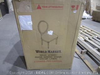 World Market Dining Chairs-2 See Pictures