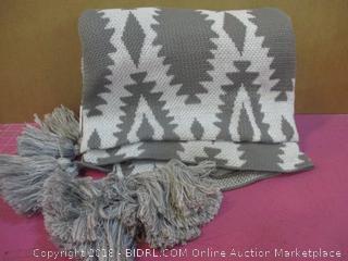 Outdoor & Indoor Oversize Throw Grey