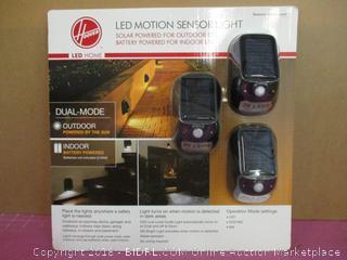 Hoover LED Motion Sensor Light  Dual Mode Solar Light