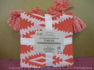 Outdoor & Indoor Oversize Throw South West-Coral