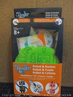 3 Doodler Robot & Rocket Factory Sealed