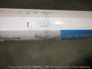 LUCID 10 Inch Gel Memory Foam Mattress - Dual-Layered - King (Retail $319.00)